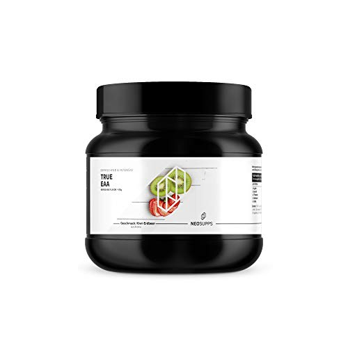 Neosupps True EAA Kiwi-Erdbeere 410g | Aminosäure Getränk | Perfekte Löslichkeit | Premium Qualität | Aspartame Free | Muskelaufbau oder Abnehmen und Diät, Geschmack:Kiwi-Strawberry