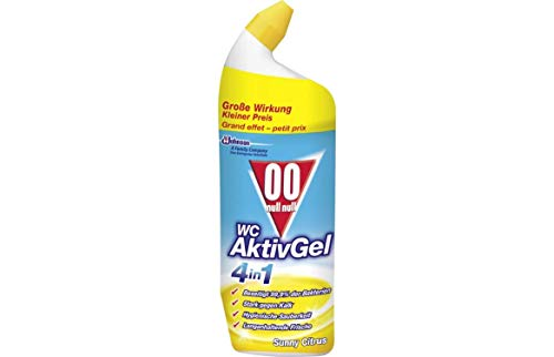 00 null null WC Aktiv Gel 4in1 Flüssiger WC Reiniger, Sunny Citrus, 1er Pack (1 x 750 ml)