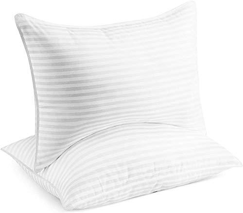 CHUNUO Hotel Home Series Almohada de gel (2 unidades) – Almohada de gel de felpa de lujo, resistente al polvo y a los ácaros, hipoalergénica – Queen