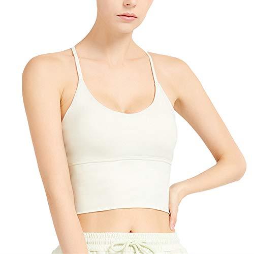 Cwang Sujetador Tipo Camiseta sin Aros con Relleno Ligero Suave para Mujer,Verde Claro,M