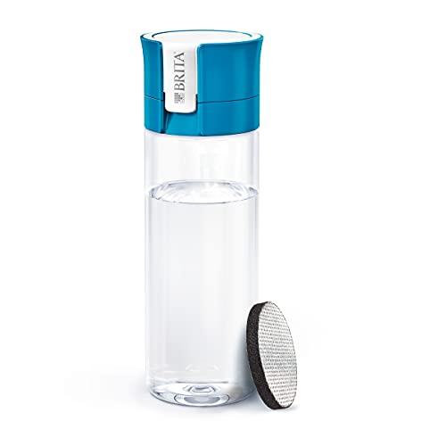 BRITA Botella filtrante Azul- Filtro Tecnología MicroDisc, Óptimo sabor para disfrutar en cualquier lugar, Botella de Agua sin BPA, 0.6 litros