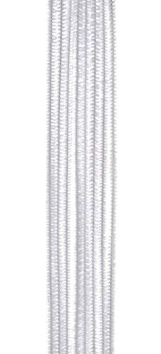 Vaessen Creative 1084-10 Pfeifenreiniger zum Basteln und Dekorieren, Cheniulle, Weiß, 30 x 0.6 x 0.1 cm, 100-Einheiten