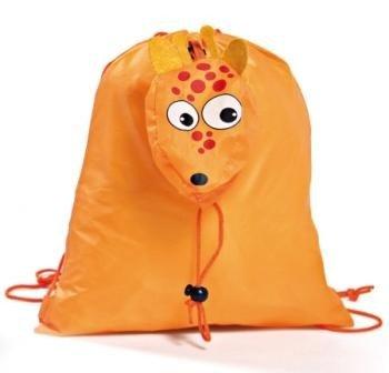 DISOK - Mochila Plegable Animals Naranja - Mochilas para Niños, Guarderías, Fiestas...