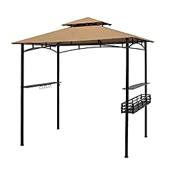 Suna Outdoors 8x5ft Double Tier Grill Gazebo for Cookouts