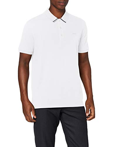 HUGO Mens Daruso203 Polo Shirt, White(100), L