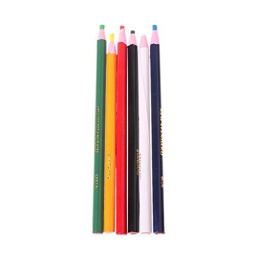 bibididi Marcadores de 6 Colores para Vidrio de Metal China Graph Peel Off Grease Wax Pencil, Productos de Pintura creativos, Seguros
