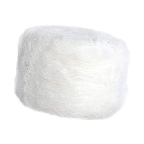 SM SunniMix Housse de Selle de Siège en Polyester Lavable Coussin Tabouret de Bar - Blanc, 30cm