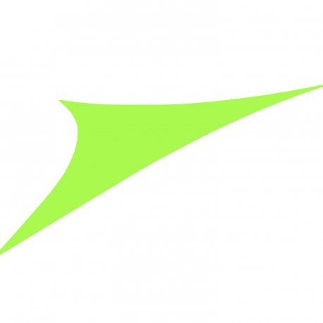 Easywind - Voile d'ombrage 400x400x570cm - Toureillo - Forme Triangulaire, Coloris Vert, Tissu Extensible