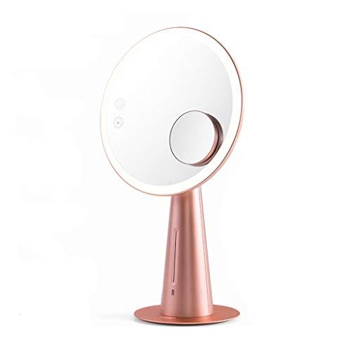 Miroir de Maquillage LED avec Chambre à Coucher Lumineuse Grande Robe Maquillage Maquillage Charge Amplification de la lumière de Bureau (Couleur : Rose)