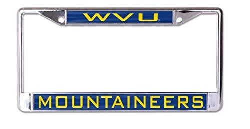 WinCraft NCAA West Virginia Mountaineers WVU Inlaid Metal License Plate Frame, 2-Tag Corners