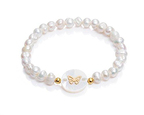 Pulsera Viceroy Comunión Niña 6009P100-60 Perlas y Mariposa Nácar y Plata