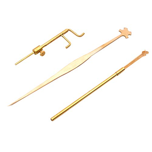 Violin Tools Luthier Werkzeug, 3 Stück Professional Violin Tools Kit, inkl. Schallmessgerät & Retriever Clip & Setter