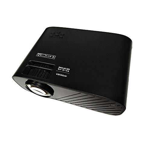Mini proyector AI inteligente, un proyector de vídeo portátil, apoyar 1080P Full HD de pantalla de 100 pulgadas, viene con altavoces, compatible con fuego Stick de TV, PS4, HDMI, VGA, AV y USB,Negro