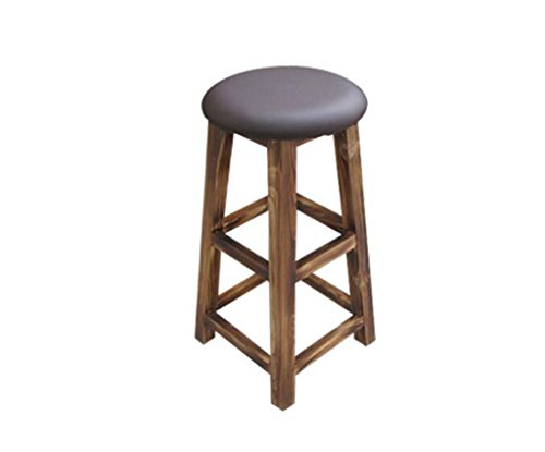 Tabouret en bois Tabouret de bar haut tabouret de bar en bois massif pur Tabouret de bar tabouret de bar tabouret rouge/assis haut 90 (taille : 70cm)