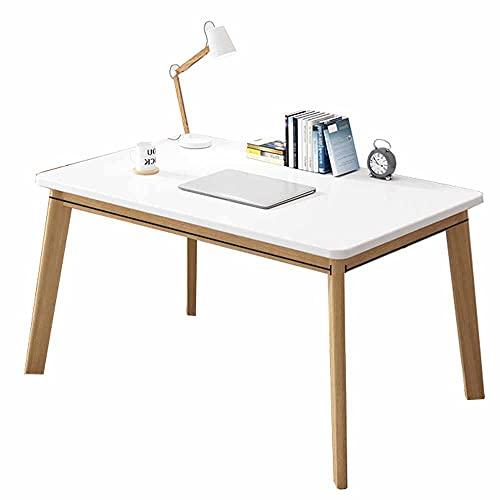 LJFYXZ Mesa de Ordenador 39' Mesa de Ordenador portátil para PC Comedor Escritorio de Oficina en casa de Trabajo para la Cocina de Estudio Familiar de la Empresa Fácil (Size:100x60x75cm,Color:Blanco)