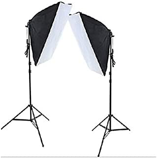 Photography Rectangle Continuous SoftBox Lighting Kit 4pcs 50x70cm Softbox 2pcs Light Holder Stand Photo Studio Equipment Set