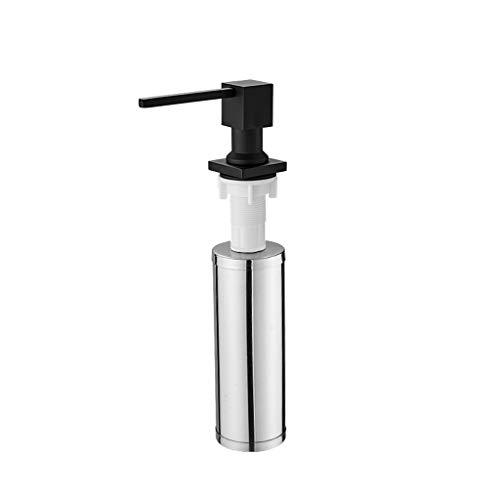 Dongxiao Bomba de Jabón Dispensador de jabón Manual de Acero Inoxidable Fregadero para lavavajillas Lavavajillas de vaporización de jabón de Mano Boquilla de rotación de 360