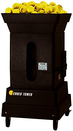 Sports Tutor Tennis Tower with 2-Button Remote - for Home Courts. Made in USA by #1 Tennis Machine Company in The U.S. and Worldwide
