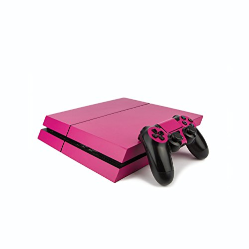 Premium PS4 PlayStation 4 Colourful Vinyl Wrap / Skin / Cover for PS4 Console and PS4 Controllers: Matte Rose