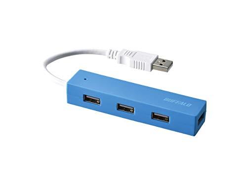 BUFFALO USB ハブ USB2.0 バスパワー 4ポート ブルー BSH4U055U2BL 【Nintendo Switch/Windows/Mac対応】
