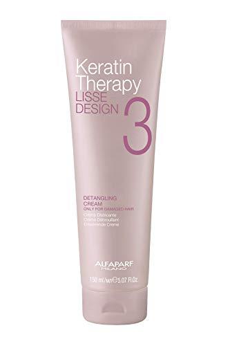 Alfaparf Milano Keratin Therapy Lisse Design Detangling Cream - Maintains and Enhances Keratin Treatments - Protects Against Heat - Professional Salon Quality - 5.07 fl. oz.