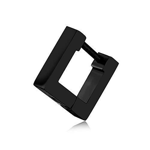 SYDBAODAN Punk Earring - Geometric Gothic Stud Earrings,Punk Rock Style Unique Ear Cuffs Clip-On Earrings For Men Women'S Popular Personalized Style Earrings,Square,Black
