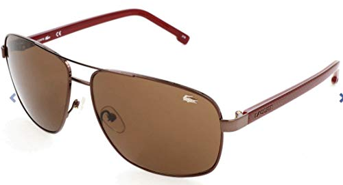 Lacoste Men's L162S Sunglasses, Brown/Brown, 61 mm