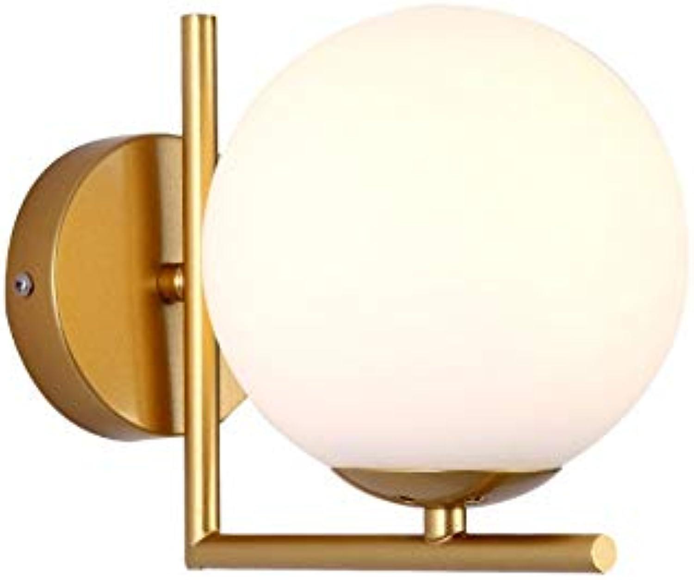 Wandleuchten Indoor Nordic Golden Milk Weiß Ball Wandleuchte LED Ball Wandleuchte, Golden