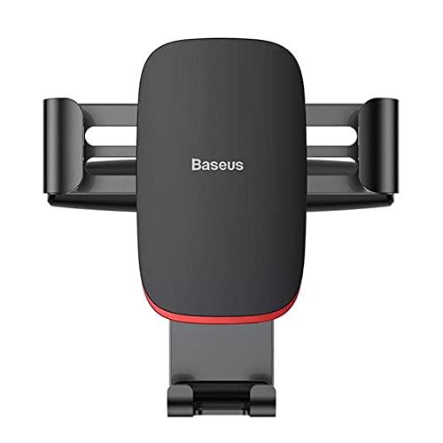 UKKD Soporte movil para Coche Soporte para Teléfono del Automóvil 360 Rotación De Teléfono Móvil Soporte De Clip para Teléfono Soporte De Montaje De Ranura De CD (para iPhone Samsung)-Black