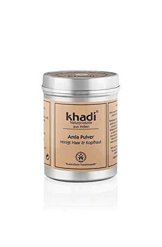 Khadi zuivere amla poeder 150 g I Ayurvedische verzorging van de hoofdhuid I versterkt de haarwortels I geeft volume en glans I natuurlijke cosmetica zonder kunstmatige toevoegingen