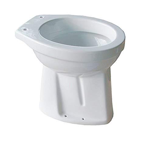 Stand WC ERHÖHT 50 CM Abgang Innen Senkrecht Toilette Flachspüler + Befestigung