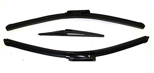 AERZETIX - Set mit 3 - speziellen vorderen und hinteren - wischerblätter - 26/16/12''