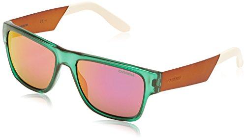 Carrera 5014/S VQ 8QF Gafas de sol, Verde (Green Orange White/Grey Pink Mirror), 55 Unisex-Adulto
