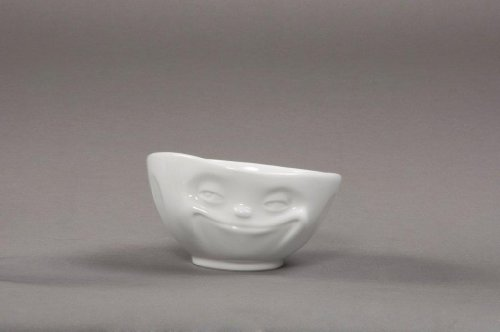 Schale grinsend, ca.15,5x9cm mit Untertasse