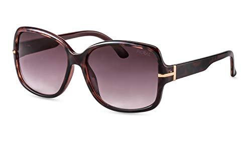 Filtral Schmetterling-Sonnenbrille/Klassische Damen-Sonnenbrille mit Verlaufstönung & Metalldetails F3071521