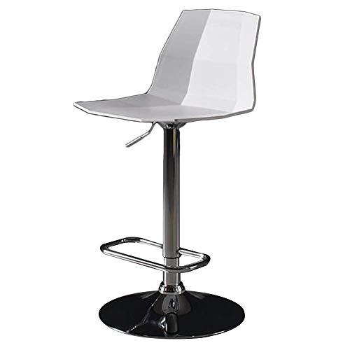 SXRDZ Taburete De Bar Counter Barstools Bar Taburete Impermeable Ocio Moderno Metal Marco ABS ABS ABS Ajustable 360 °Rotación(Color:Gris) (Color : White)