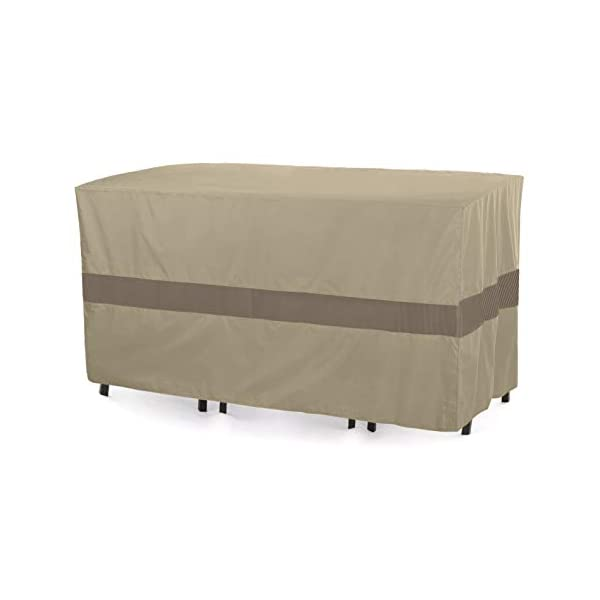 SunPatio Outdoor Patio Bistro Table & Chairs Cover with Seam Taped, Heavy Duty...