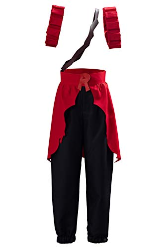 My Hero Academia Kirishima Eijiro Cosplay Costume Outfit Boku no Hero Season 4 Battle Suit (XXL, Red)