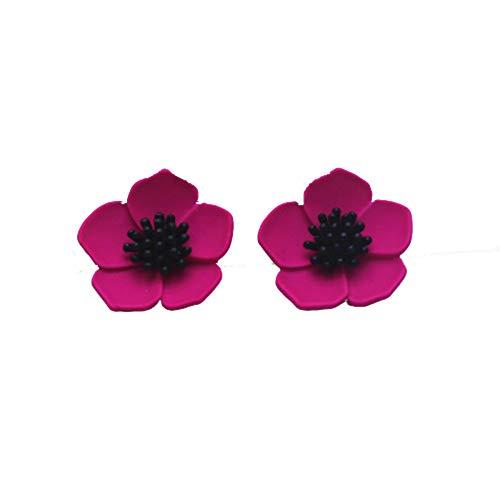 EXINOX Flower Earrings | Women | (Fuchsia)