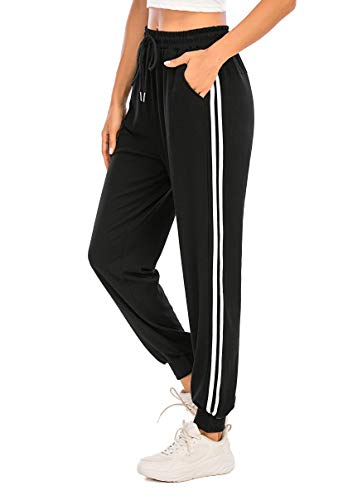 Enjoyoself Pantalón Largos Mujer Chándal Deporte para Yoga Running Fitness Jogging Danza Pijama de Interior Grandes Deportivos Casuale