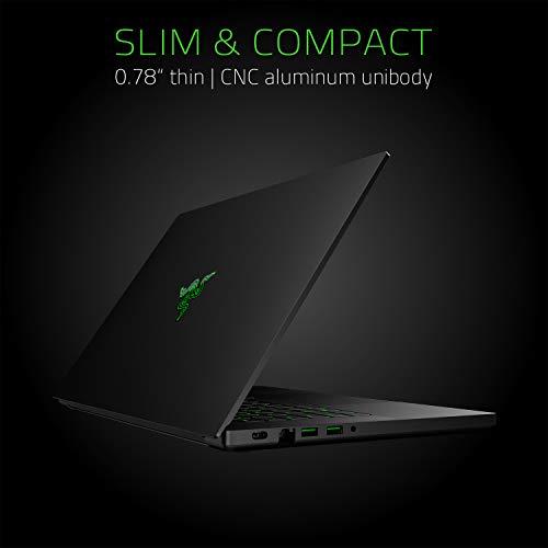 Razer Blade 15 Gaming Laptop 2020: 15,6 Zoll Full HD 144Hz Basis Modell, Intel Core i7 9th Gen, NVIDIA GeForce GTX 1660 Ti, 16GB RAM, 256GB SSD, Chroma RGB Beleuchtung | Qwertz DE-Layout