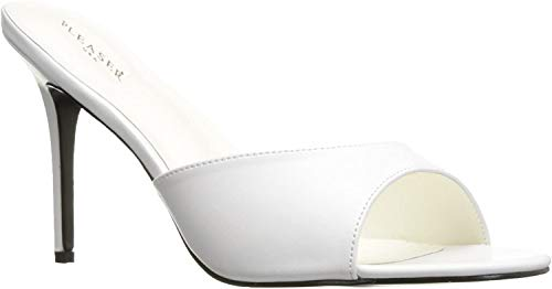 Pleaser CLASSIQUE-01 Damen Pantolette, PU Weiß, EU 37 (US 7)