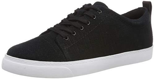 Clarks Damen Glove Echo_Sneaker Niedrig, Schwarz (Black Interest), 39 EU