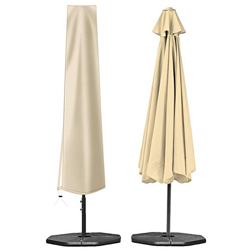 OKPOW Umbrella Cover 420D Oxford Fabric Patio Umbrella Covers Waterproof with Zip (190 x 30 x 50cm),...