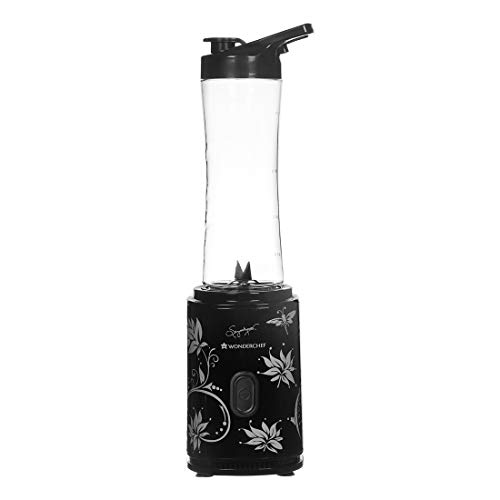 Wonderchef Nutri-Blend Personal Blender, Portable, One-Touch Operation, SS Blade, 2 Years Warranty, 300W, Black
