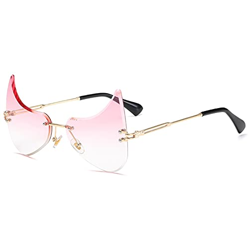 LUOXUEFEI Gafas De Sol Gafas De Sol Sin Montura Hombres Gafas Irregulares Mujeres Gafas De Sol Sombras Gafas