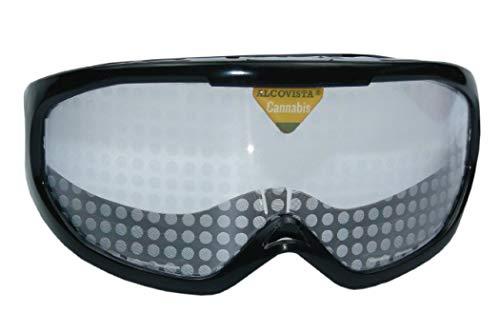 ORIGINAL ALCOVISTA® Rauschbrille - Cannabisbrille - Cannabis effeckt brille - Brillen für Drogenprävention - Drogenbrille