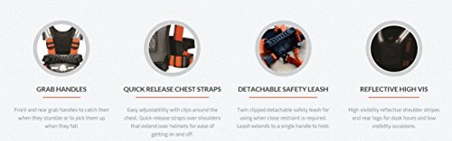 Hobble De Hoo Active Childs Harness Kids Harness for Everyday Safety and Activities Ski Harness, Grey/Black/Orange