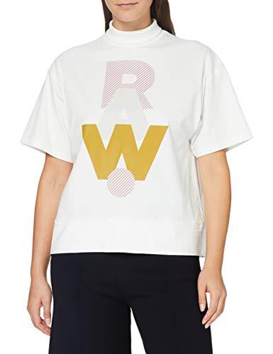 G-STAR RAW Raw Dot Graphic Carrn Loose Camiseta, Leche B771-111, Large para Mujer