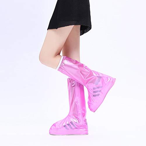 I will take action now Regen Stiefel Set Männer und Frauen Überschuhe wasserdicht Regentage Lange Regen Stiefel Set Slip rutschfeste Dicke verschleißfeste Erwachsenen Outdoor-Regen Stiefel